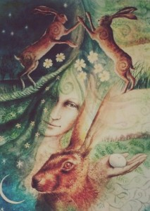 Eostre and the Hares Egg - Wendy Andrew