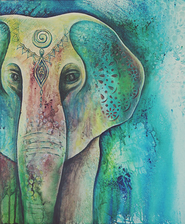 Sacred Elephant by Reina Cottier