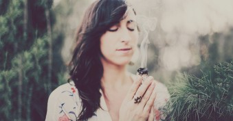 spiritual-protection-practices-smudging-woman-energy